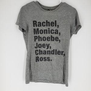 Friends tv show series tshirt tee grey medium